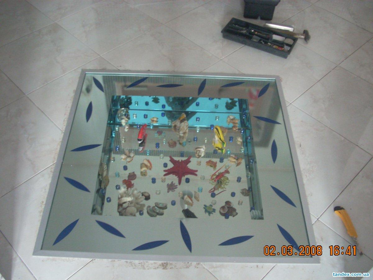 Как сделать аквариум в полу своими руками 461