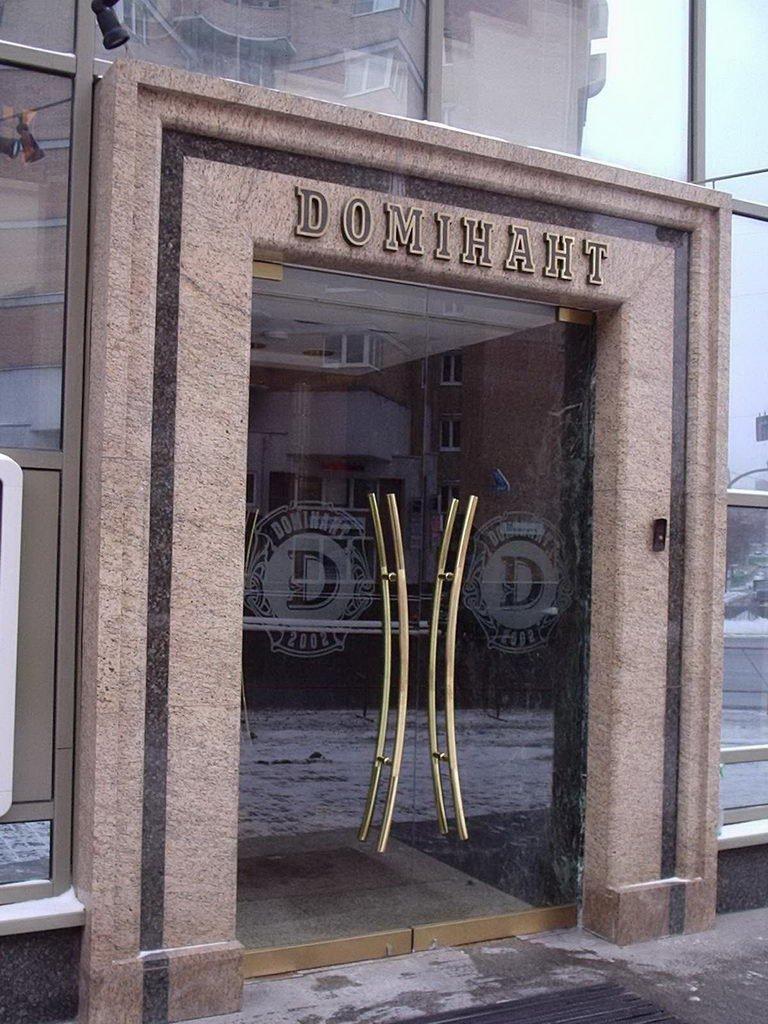 красивые входные двери со стеклом в офис